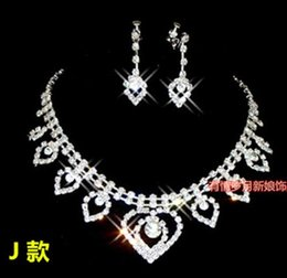 wonderful white diamond stone bride wedding jewelry set necklace earings tyty