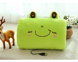 Wholesale 1 USB Hand Cushion Electric Heater Plush Pillow cm cm Hot Water Bottle Hand Po color fast ship CF