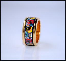 Monet Poppy Series rings 18K gold-plated enamel rings Top quality ring for women band rings for gift