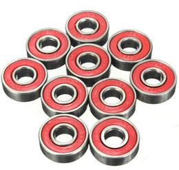 608 2RS Inline Roller Skate Wheel Bearing Blacken 2.1 x 2.1 x 0.7cm Skateboard Wheel Bearing Red Sealed free shipping