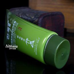 Wholesale cream gilet pc Korean Bamboo Salt Face Scrub Cream Facial Exfoliating Moisturizing Remove Dead Skin Anti Acne Exfoliator Gel g J08005