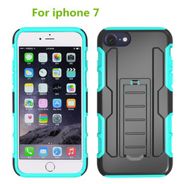 For Iphone 7 plus Top Luxury New Design Hybrid Case Heavy Armor Duty Durable PC Silicone Robot combination cover