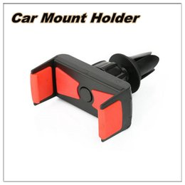 Wholesale 360 degrees car phone holder Universal air vent mount automatic lock holder For iphone4 s s plus Samsung S3 S4