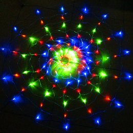 Promotion rgb led net Wedding 1.4M 120 LED Strips Lights Decorative Xmas Party Festival Twinkle Net String Lamp RGB Bulb 220V EU / 110V US