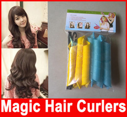 Wholesale Sell Hair Home - Amazing Magic Leverag Hair Curlers Curlformers Hair Roller Hair Styling 20cm 30cm 45cm 55cm long Tools In Stock Hot Selling
