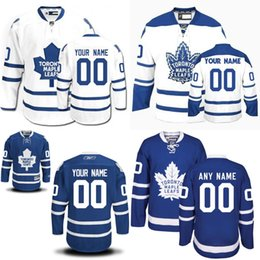 Wholesale Customized Men s Toronto Maple Leafs Custom Any Name Any Number Ice Hockey Jersey Authentic Jersey Embroidery Logos size S XL