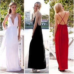 Free Shipping 2018 Evening Dresses New Arrivals V-Neck White Dress Black Prom Gowns New Arrivals photos Sleeveless Halter