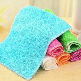 Wholesale Hot Selling Kitchen Bamboo Fiber Dishcloth Dish Cloth Rags Hand Towel pc