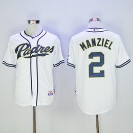 Johnny maillots manziel en Ligne-Maillots Hommes San Diego Padres 2 Maillot de baseball Johnny Manziel Blanc Coolbase Cousu 100% Nom, 4515