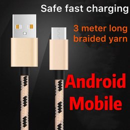 3 meter data line fast charging, Android braide data line , mobile phone charge