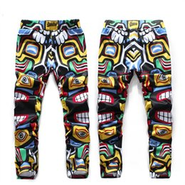 Wholesale-New fall trend of Indian men and women couples suite Mayan Totem Pants free shipping