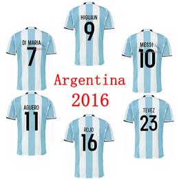 Wholesale soccer jersey ARGENTINA MARADONA MESSI HIGUAIN KUN AGUERO DI MARIA TEVEZ DYBALA LAVEZZI camisetas futbol camisa de futebol maillot de foot