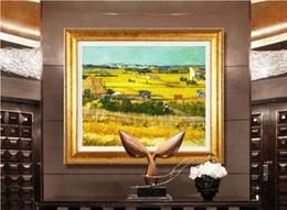 Wholesale Handpainted Impressionist Landscape Canvas Painting Harvest Van Gogh Oil Painting Reproductions quadro pintura sem moldura Art