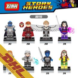 Wholesale 250pcs Mix Order Super Heroes Minifigures Marvel DC Archangel Quicksilver Magneto Apocalypse Rogue X0115 Minifigure Building Blocks Toy