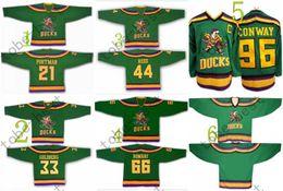 Wholesale Mighty Ducks dean portman greg goldberg Hockey Jerseys Best quality ICE Winter Jersey Embroidery Logo Size M XL Mix Order