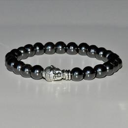 Grounding Mala Hematite bracelet,buddha bracelet,root chakra bracelet,meditation wrist mala prayer,yoga bracelet,gemstone healing bracelet