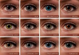 Wholesale 3 tone fresh color blends contacts crazy lens contact ready stock pair