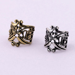 Wholesale Jewelry New Vintage Antique Ear Cuff Punk Small Flower Hollow Charm Clip On Earrings Earcuff For Women Cartilage EH30
