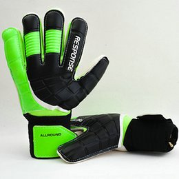 Wholesale Durable skidproof goalie gloves Colorful all latex Size soccer goalkeeper Football game goaltender training protection