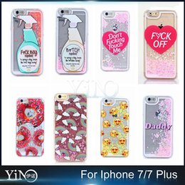 Wholesale New Arrival Case Creative Detergent Pattern D Cartoon Quicksand Cover for iPhone S Plus Plus