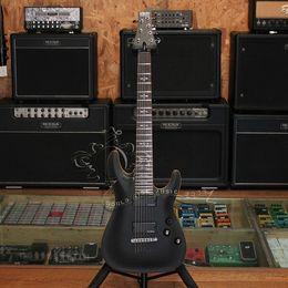 Guitare par à vendre-guitare électrique démon-7 RSEA-Schecter gros string Seymour Duncan AHB à travers le corps de couleur personnalisée peut