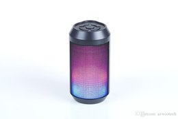 Wholesale Factory promotion Portable Mini Bluetooth Speaker with Color chaning lights and balanced sound
