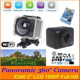 Caméscopes mini- à vendre-Panoramique X360 Sports Action Caméra 2 pouces LCD 360 ° 170 ° VR Caméra WiFi Caméra 1080P Full HD Mini Caméscope 60m étanche 12MP DHL