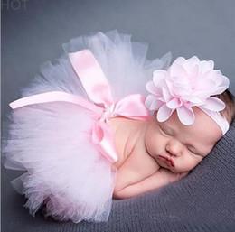 Newborn Baby Girls Headband +Tutu Skirt Clothes Photo Prop Costume Outfits Cute Headband Flower Headdress Mesh Ball Gown Skirt Hot SV020929