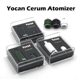 Wholesale Authentic Yocan Cerum Atomizer Full Ceramic Wax Vaporizer With Spare Quartz Dual QDC Coil Fit mAh Yocan Evolve Plus Battery Box Mod