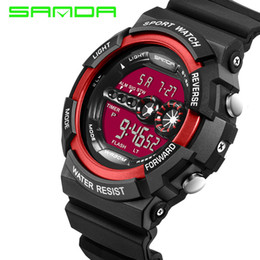 Brand New Fashion Man Sport Watch Multi-function Outdoor Waterproof Diving Watch for Mens Resin Strap LED Digital Analog Man Dress Watch