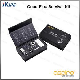 Wholesale 100 Original Aspire Quad Flex Survival Kit Innovative in tank Nautilus X Tank RTA RDA and Squonk Style RDA Atomzier
