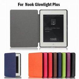 Wholesale 1pcs Fashion PU Leather Pocket Book Cover Flip Case for Barnes Noble Nook Glowlight Plus eReader