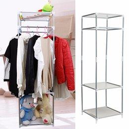Wholesale DIY Coat Metal Closet Storage Organizers Wardrobe Clothes Rack Hanger Home Sundies Shelves Multifunctional
