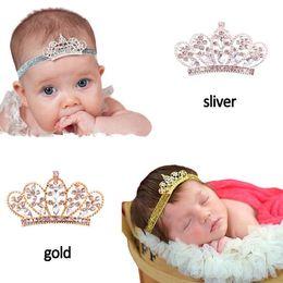 Wholesale 5 CM Crown children hair accessories CM powder shiny crown crystal hair band baby headflower E197