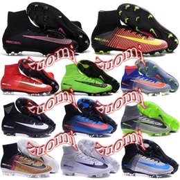 Wholesale Charlin Original Mercurial Superfly FG Soccer Cleats Superfly V AG High Ankle Football Boots Cleats Mercurial Soccer Shoes Superflys