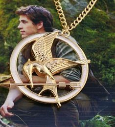 Wholesale 2016 The Hunger Games Necklaces Inspired by Jennifer Lawrence Mockingjay And Arrow Pendant Necklace Jewelry Katniss Movie