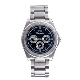 Mujer del estilo de reloj resistente al agua en venta-De buena calidad Chaoyada hombres de las mujeres de los amantes de los amantes de acero inoxidable 3 diales de estilo reloj de pulsera de cuarzo 7200