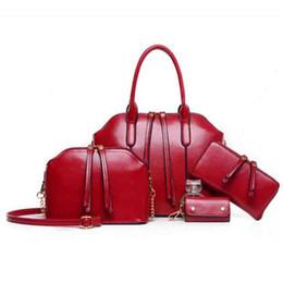 Wholesale Newest Newest Wax oiled Genuine Leather Women Handbag Shoulder Crossbody Bag For Ladies Handbag Messenger Bag Purse Wallet Sets