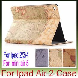 Mélanger le cas de la mode à vendre-le style de la carte support de mode Bracket holster rabat poche de couverture de cas de luxe pour Apple iPad Air2 air 2/3/4/5/6 Mini mini4