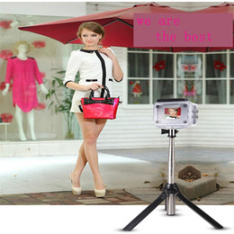 Wholesale Selfie stick Tripod Bluetooth Lazy support Creative new Three in one CM Bracket videotape direct seeding News report