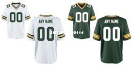 Wholesale HOT SALE Men s Green Bay packer Custom Elite Football Jerseys High Quality Stitched Any Name and Number You Decide Two Colors Allowed