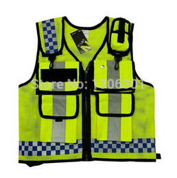 Wholesale NEW HONGKONG STYLE Reflective vest Lattice screen cloth Safety vest Traffic police zipper reflective vest print able