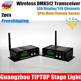 Wholesale 2pcs Wireless DMX Receiver Transmitter Controller G wireless DMX512 Lighting Controller DMX512