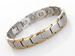 New arrival 2016 stainless steel magnetic health bracelet with germanium infrared ray anion benifits with free shipping