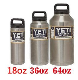 Wholesale 2016 Yeti oz Rambler Stainless Steel Holder Cups Large Space Cooler YETI Rambler Tumbler Cup Vehicle Beer Mugs Double Wall Bilayer Vacuum