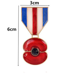 Wholesale Red Poppy Flower Pendent UK Flag Inch Huge Brooch Fashion Remembrance Days Poppy Brooch High Quality Elegant Jewelry Badge