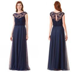 Wholesale Black Long Bridesmaid Dress Vintage Lace Open Back Chepa Party Dress Elegant Beautiful Hot Sale Cheap Price Fashion Modest Charming