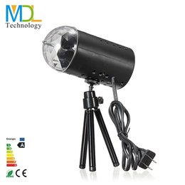Wholesale Beensom RGB LED Stage Light RGB W LED Crystal Rotating RGB Stage Black Light DJ Equipment Disco Lamp For Party Disco