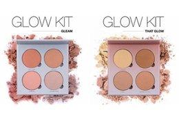 Wholesale 2016 HOT ANA Glow Kit Metallic Face Blush Powder Glow Face Makeup Bronzers Highlighter Powder Palette Face Blusher free DHL