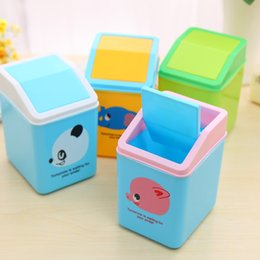 Wholesale New Arrival The desktop to receive clamshell small garbage can Garbage Bin Plastic Trash Containers cm